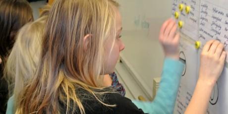 Elever arbetar med Förändringens fyra rum