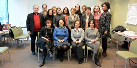 Deltagare på certifieringsutbildning i Zagreb